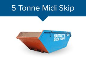 5 Tonne Midi Skip Hire in Stoke on Trent